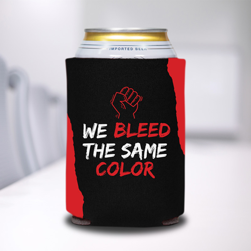 We Bleed The Same Color Can Coolers