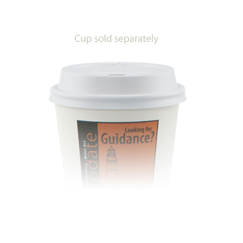 White Paper Cup - 8 Oz Dome Lid