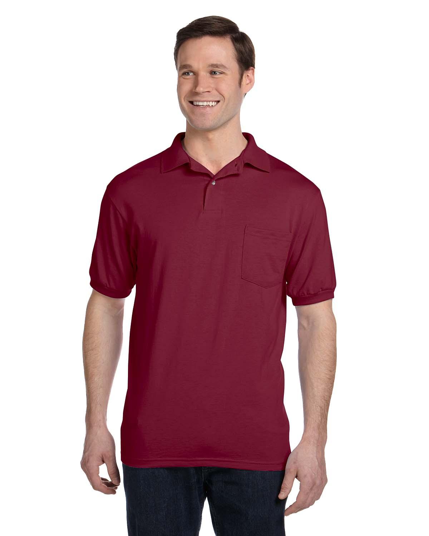 Hanes 5.2 Oz., 50/50 EcoSmart® Jersey Pocket Polo