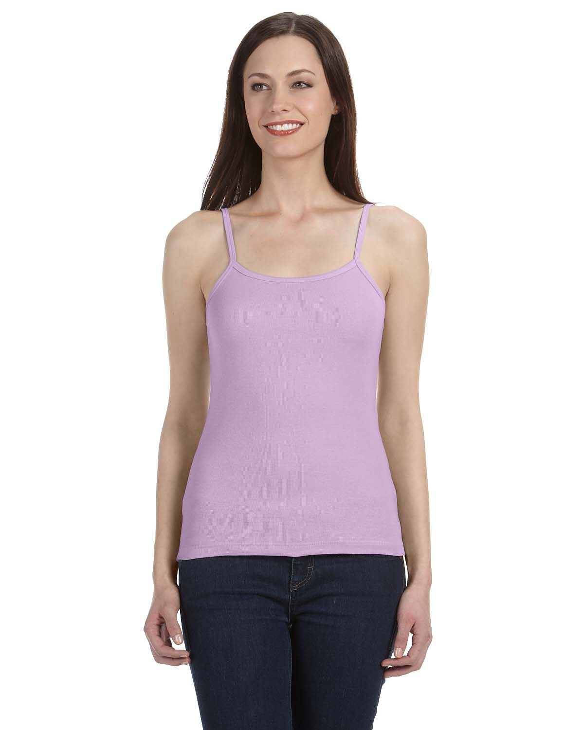Bella Ladies Stretch Rib Spaghetti Strap Tank