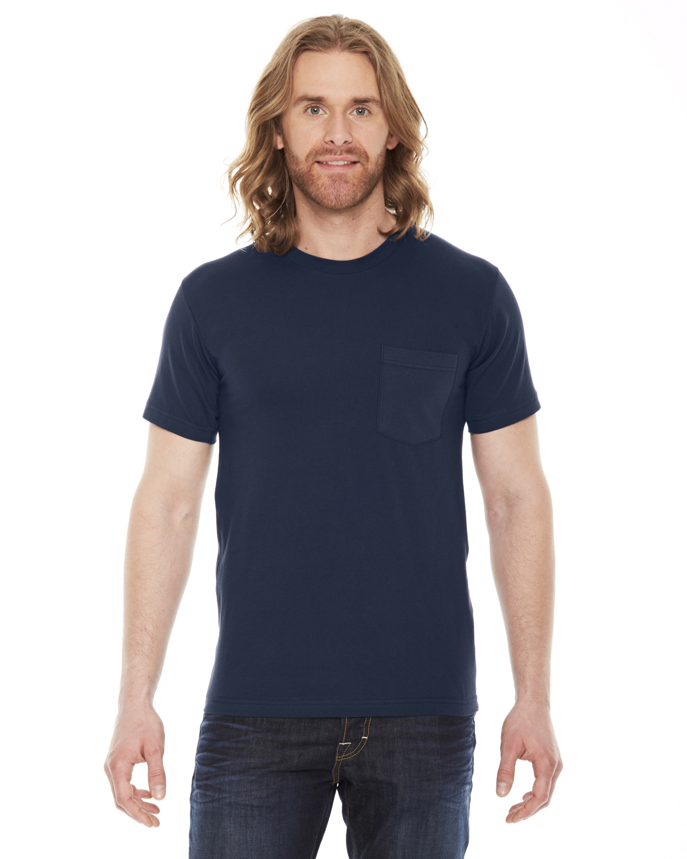 American Apparel Unisex Fine Jersey Pocket Short-Sleeve T-Shirt