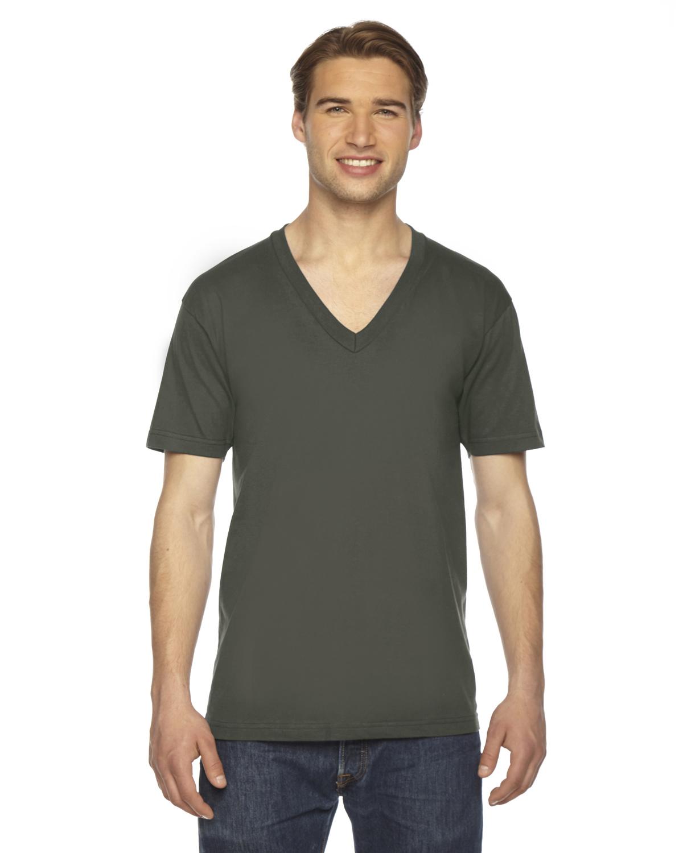 American Apparel Unisex Fine Jersey Short-Sleeve V-Neck