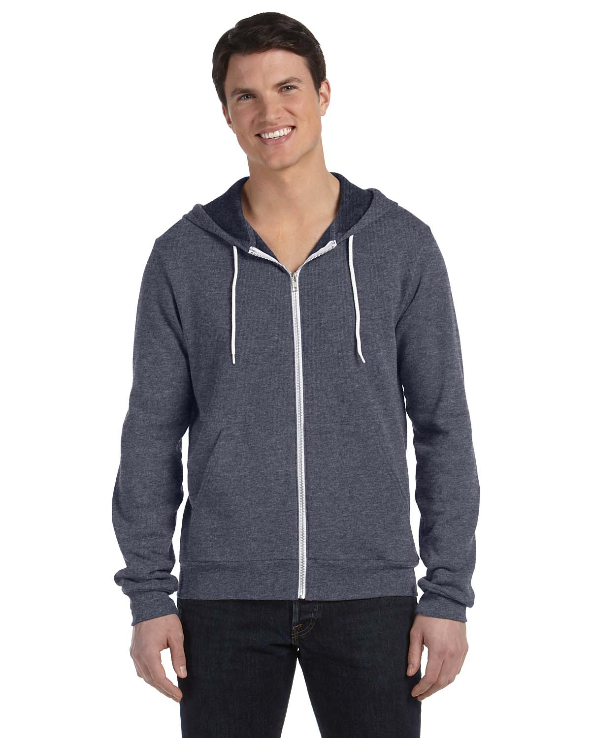 Bella Unisex Poly-Cotton Fleece Full-Zip Hoodie