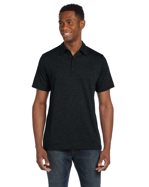 Bella Mens Jersey Short-Sleeve Five-Button Polo