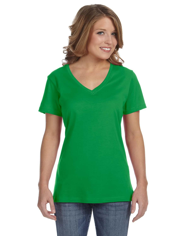 Anvil Ladies Ringspun Featherweight V-Neck T-Shirt