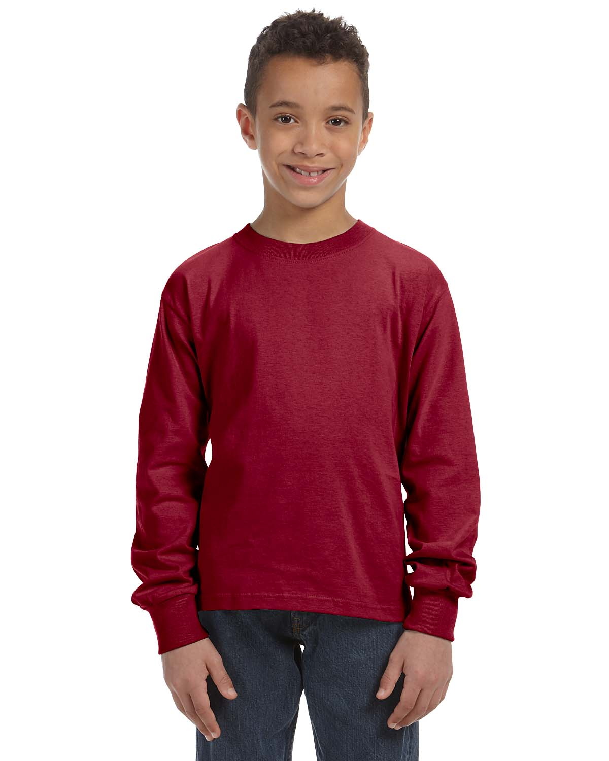 Fruit Of The Loom Youth 5 Oz., 100% Heavy Cotton HD® Long-Sl