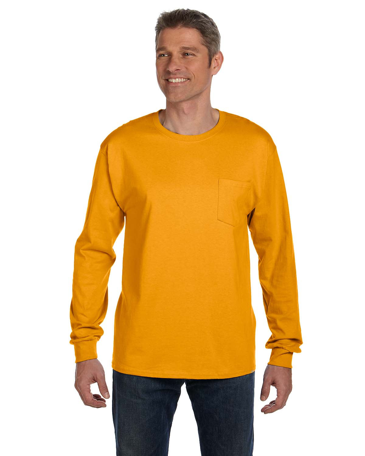 Hanes 6.1 Oz. Tagless® ComfortSoft® Long-Sleeve Pocket T