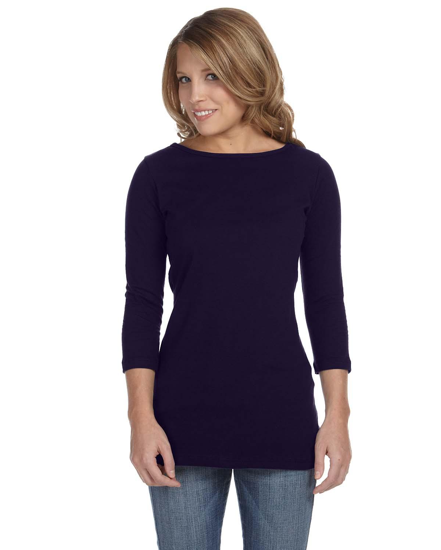 Bella Ladies Jersey Half-Sleeve Boatneck T-Shirt