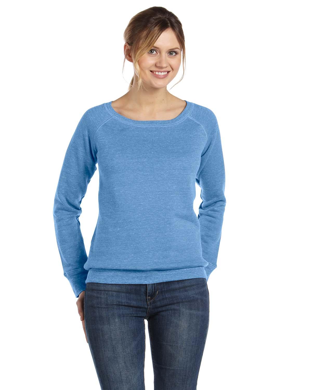 Bella Ladies Sponge Fleece Wide Neck Sweatshirt