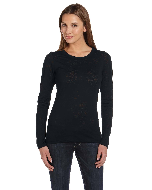 Bella Ladies Burnout Long-Sleeve T-Shirt