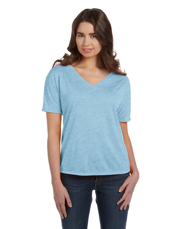 Bella Ladies Slouchy V-Neck T-Shirt