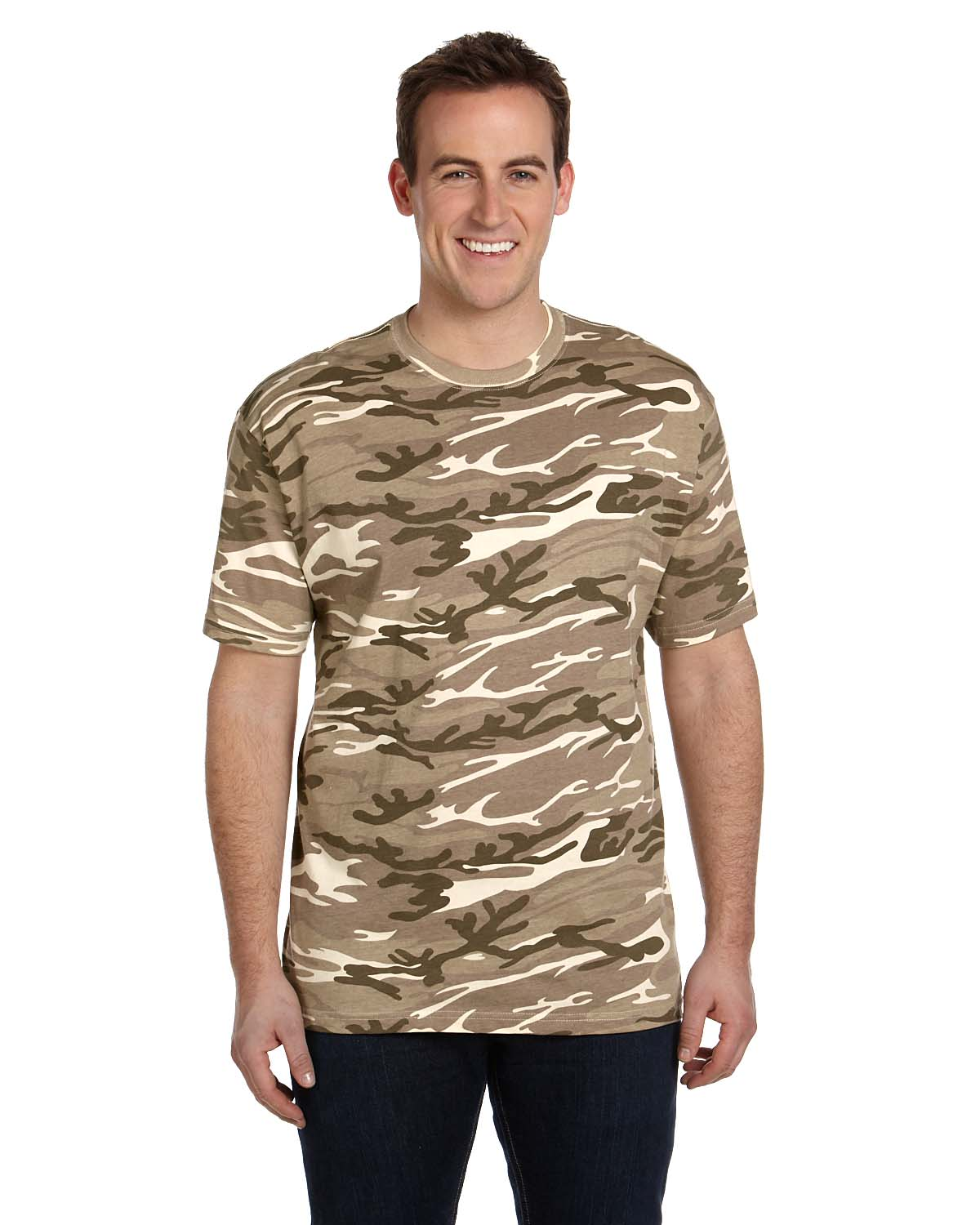 Anvil Midweigjht Camouflage T-Shirt