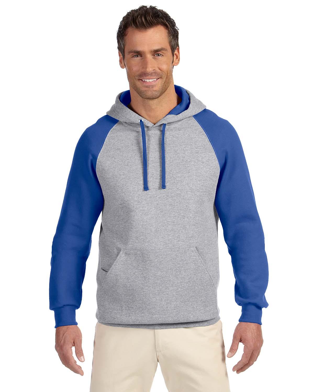 Jerzees 8 Oz., 50/50 NuBlend® Colorblock Raglan Pullover Hoo