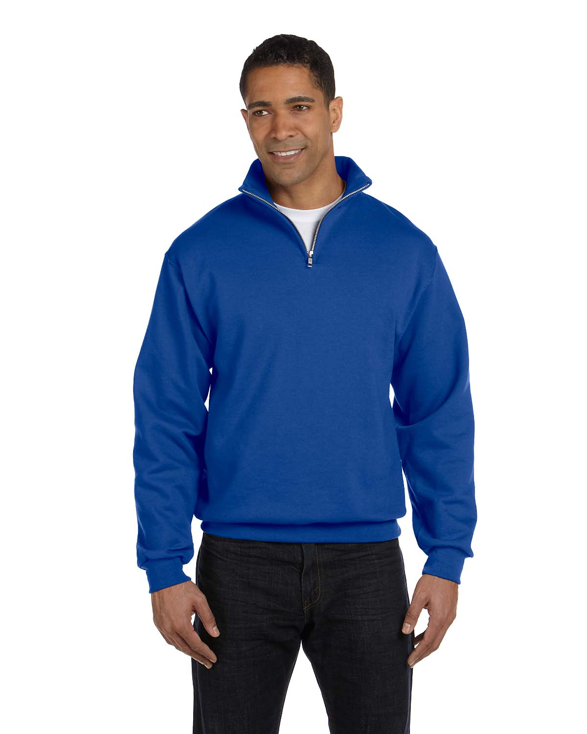 Jerzees 8 Oz., 50/50 NuBlend® Quarter-Zip Cadet Collar Sweat