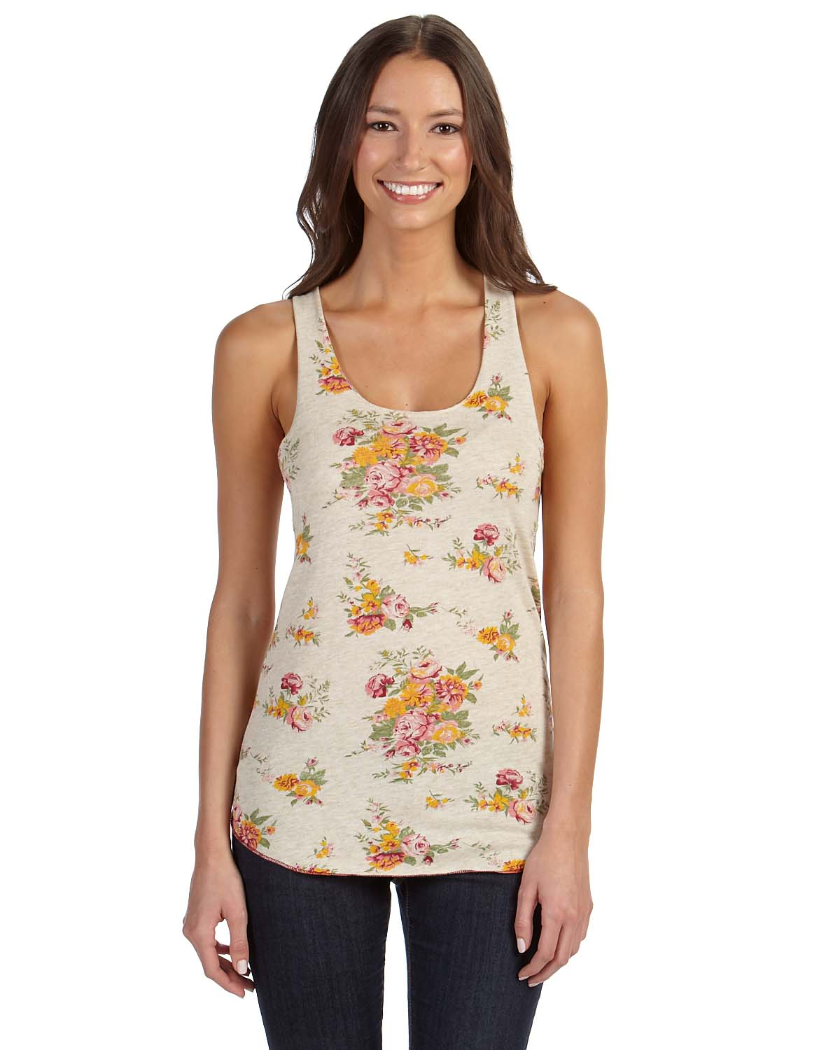 Alternative Ladies Meegs Printed Racer Tank