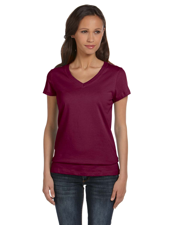 Bella Ladies Jersey Short-Sleeve V-Neck T-Shirt