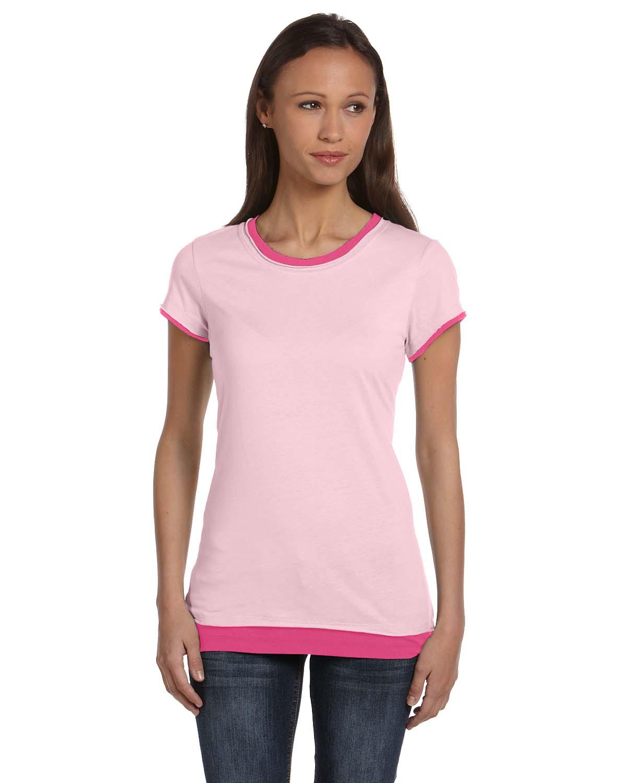 Bella Ladies Sheer Jersey Short-Sleeve 2-in-1 T-Shirt