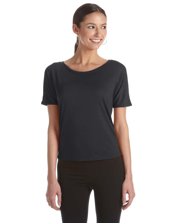 Bella Ladies Flowy Open Back T-Shirt