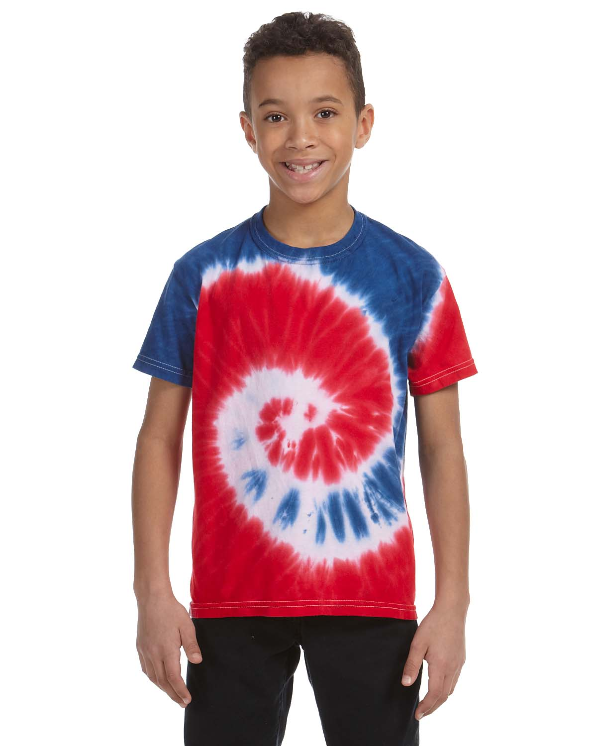 Tie-Dye Youth 5.4 Oz., 100% Cotton Tie-Dyed T-Shirt