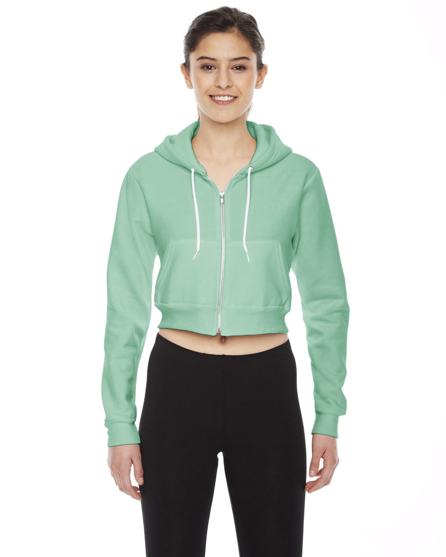 American Apparel Ladies Cropped Flex Fleece Zip Hoodie