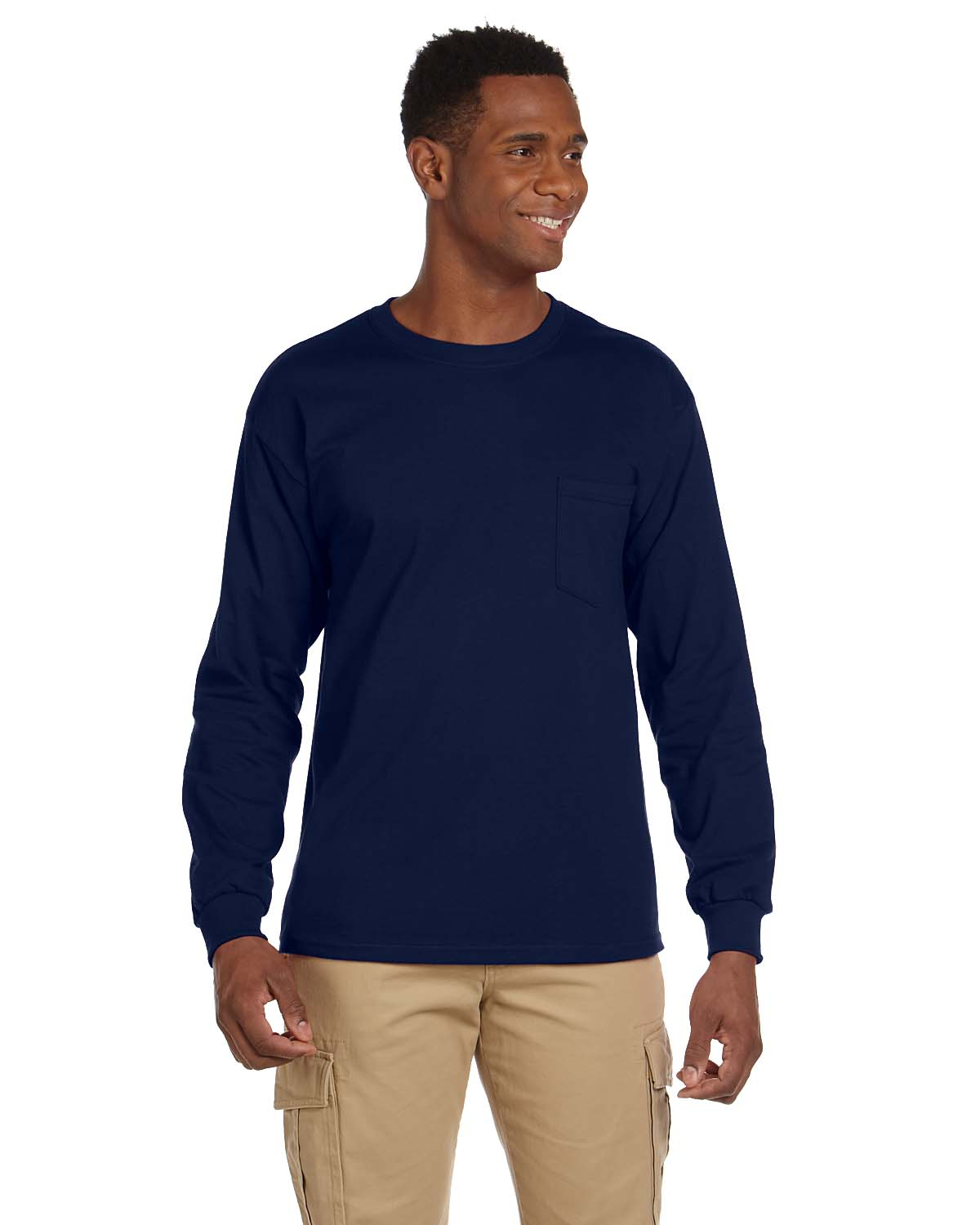 Gildan Ultra Cotton® 6 Oz. Long-Sleeve Pocket T-Shirt