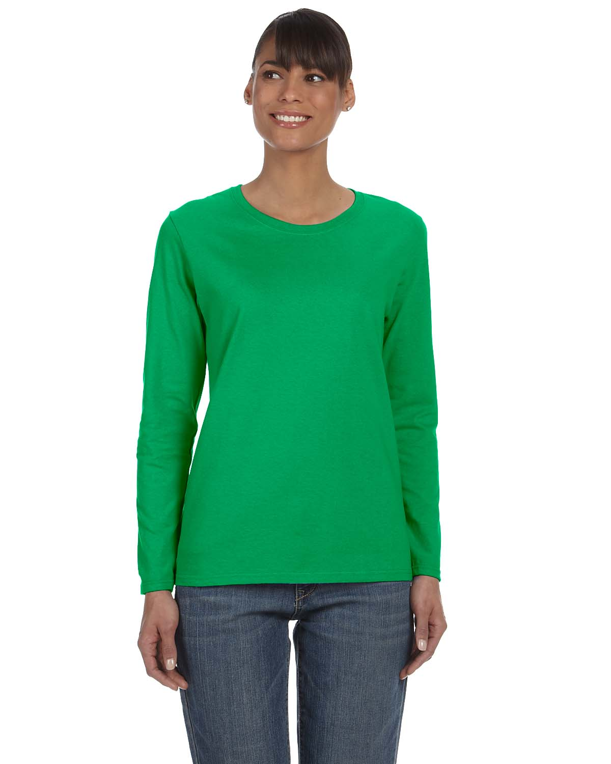 Gildan Heavy Cotton™ Ladies 5.3 Oz. Missy Fit Long-Sleeve