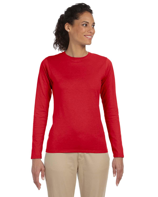 Gildan Softstyle® Ladies 4.5 Oz. Junior Fit Long-Sleeve T-Sh