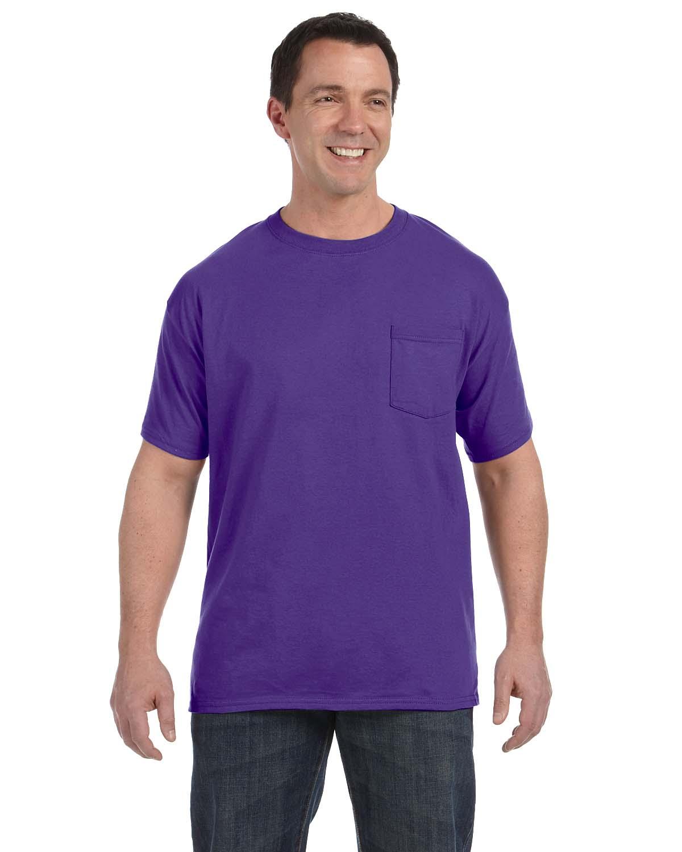 Hanes 6.1 Oz. Tagless® ComfortSoft® Pocket T-Shirt