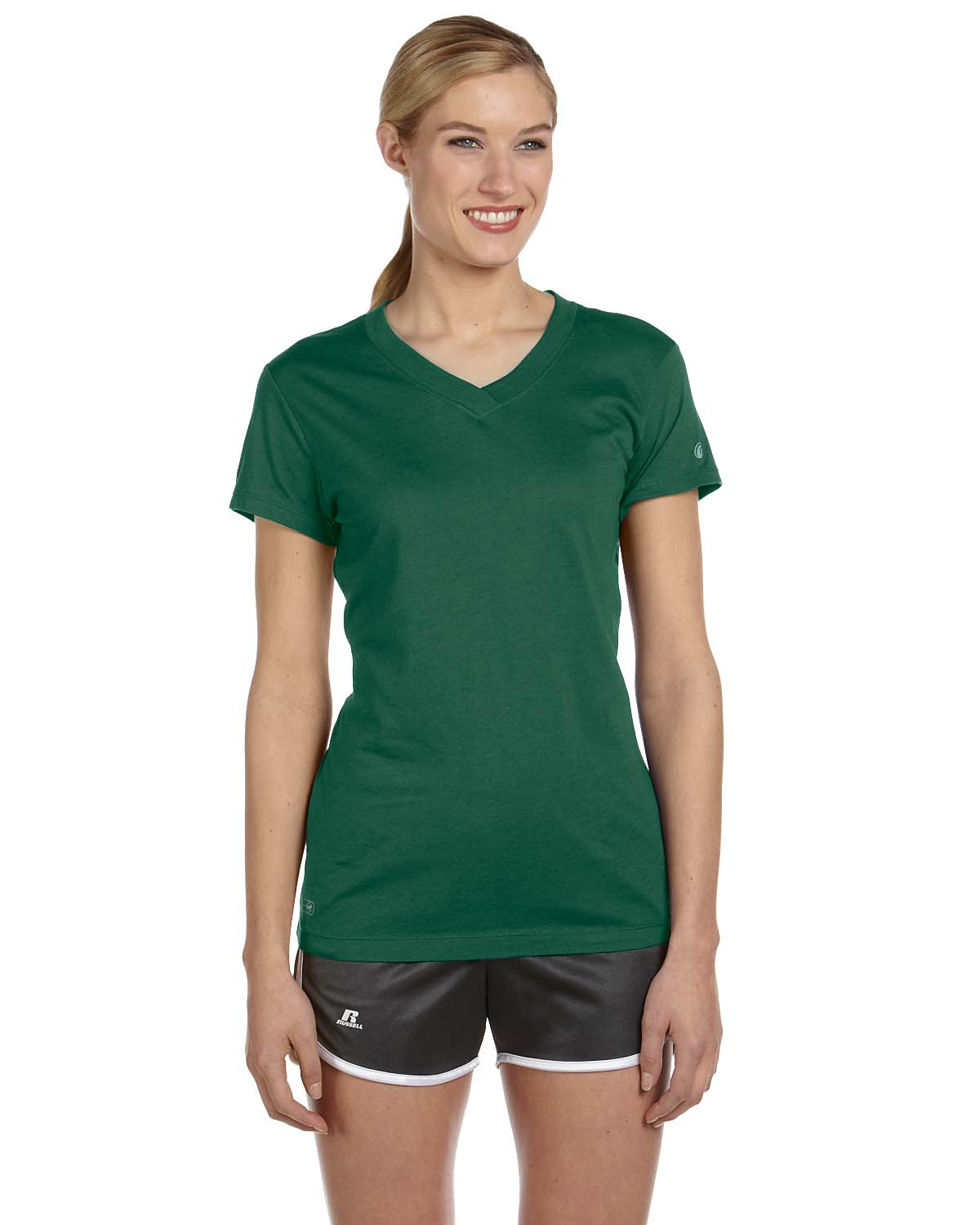 Russell Athletic Ladies Dri-Power® V-Neck T-Shirt