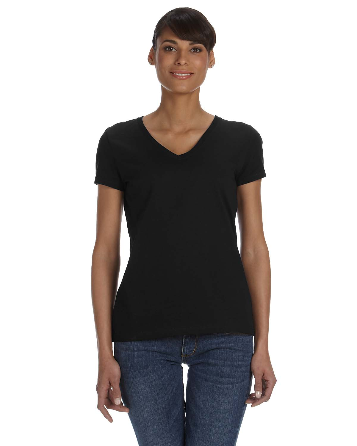 Fruit Of The Loom Ladies 5 Oz., 100% Heavy Cotton HD® V-Neck