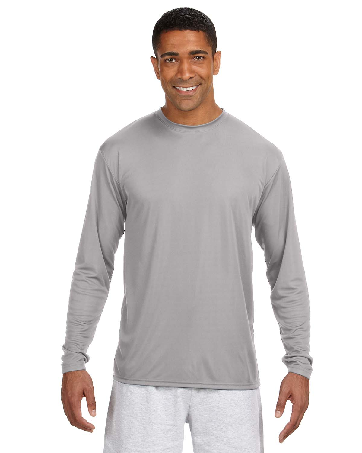 A4 Long-Sleeve Cooling Performance Crew Neck T-Shirt