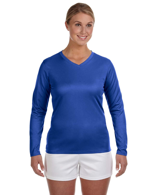 New Balance Ladies Ndurance® Athletic Long-Sleeve V-Neck T-S