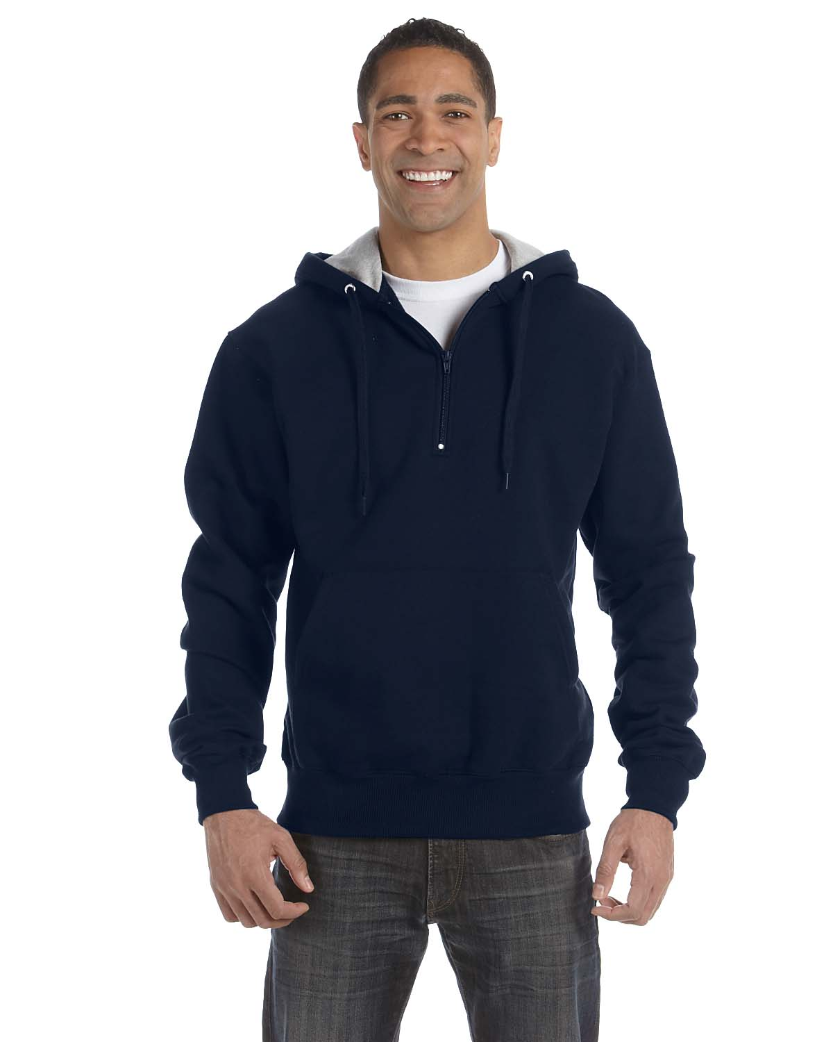Champion Cotton Max 9.7 Oz. Quarter-Zip Hood