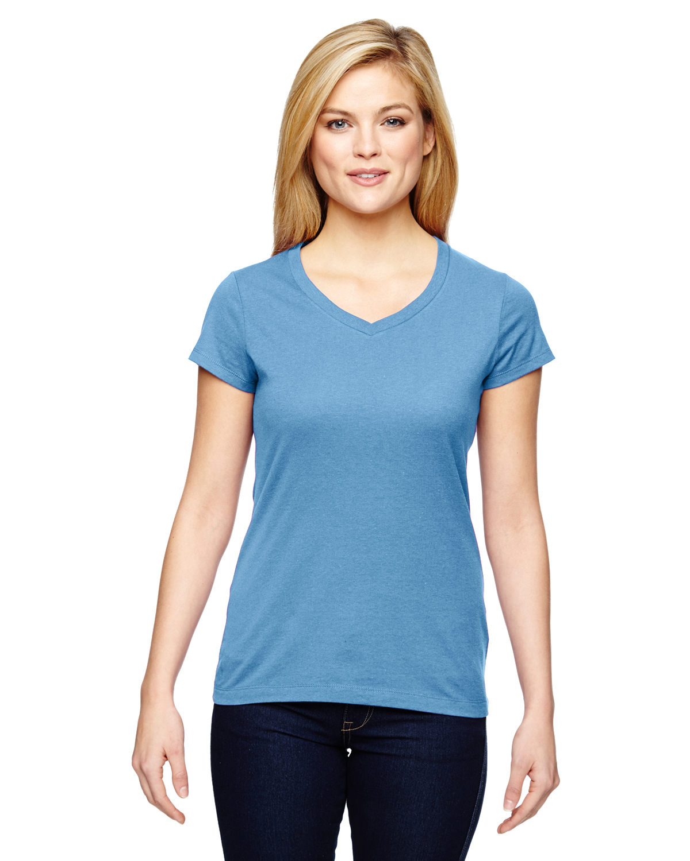 Champion Vapor® Ladies Cotton Short-Sleeve V-Neck T-Shirt