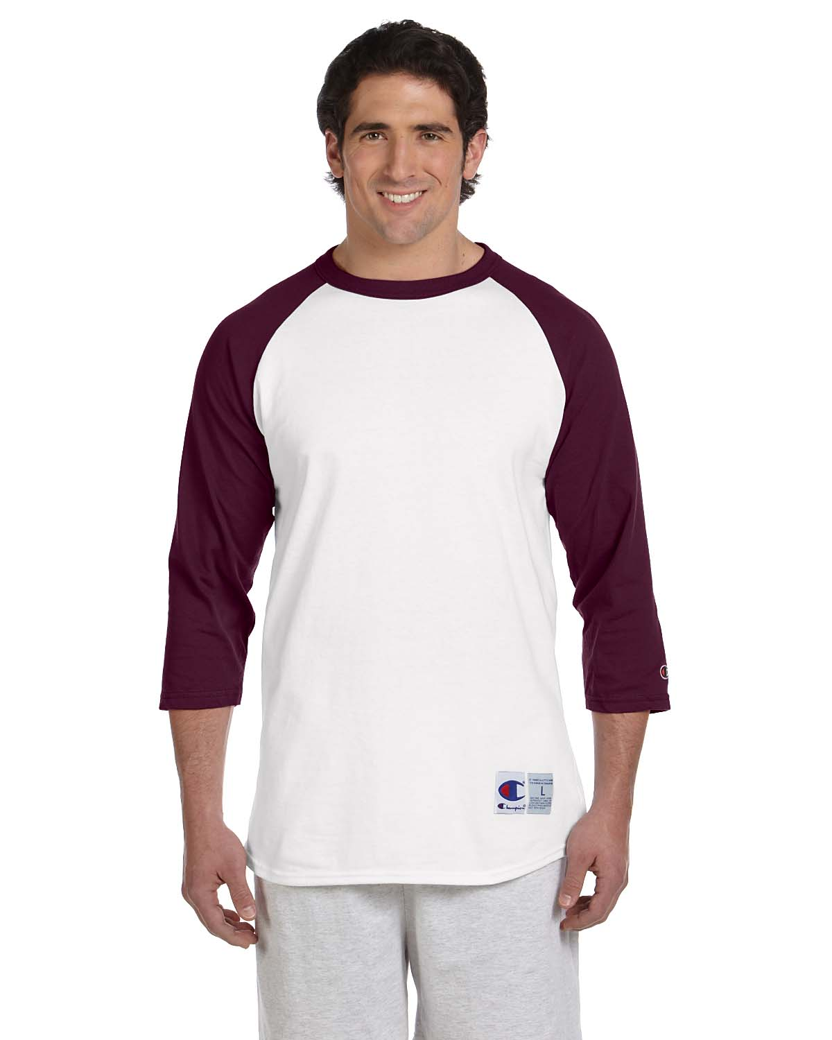 Champion 5.2 Oz. Raglan Baseball T-Shirt