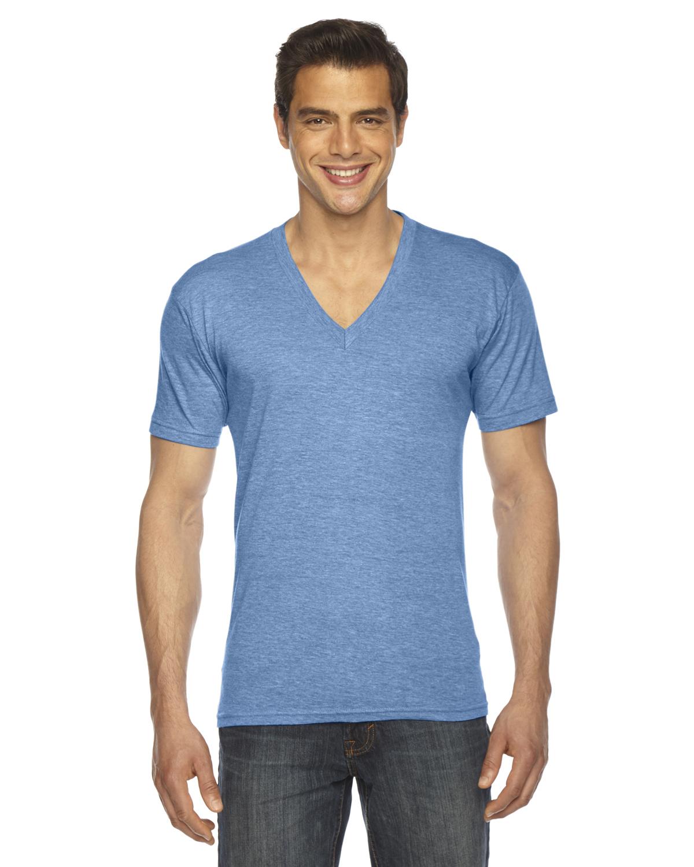 American Apparel Unisex Triblend Short-Sleeve V-Neck T-shirt