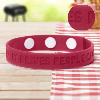 Debossed Adjustable  Wristbands