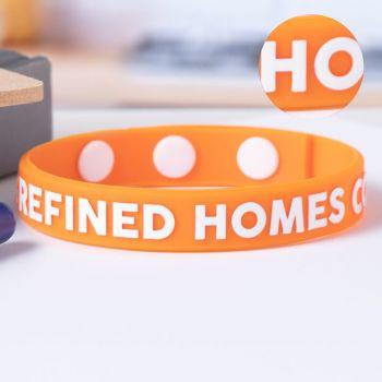 Embossed Printed Adjustable Wristbands